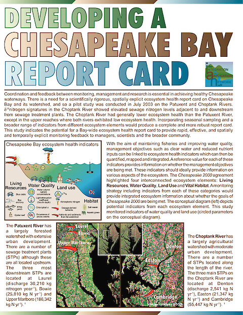 Developing a Chesapeake Bay Report Card (Page 1)