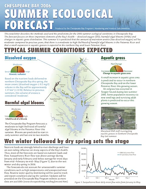 MASC Newsletter 5 - Ecological Forecast, Summer 2006 (Page 1)