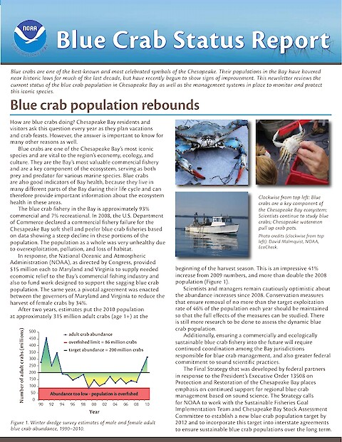 Blue Crab Status Report (Page 1)