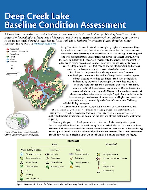 Deep Creek Lake Baseline Condition Assessment (Page 1)