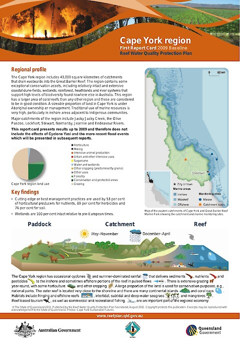 Great Barrier Reef Report Card Regional Summaries - 2009 Baseline (Page 1)