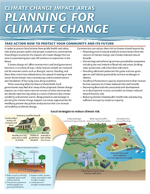 Climate Change Impact Areas: Planning for a changing climate (Page 1)