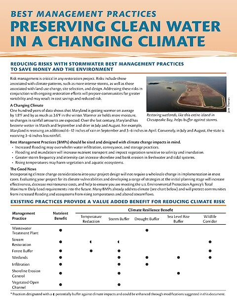 Best Management Practices: Preserving clean water in a changing climate (Page 1)