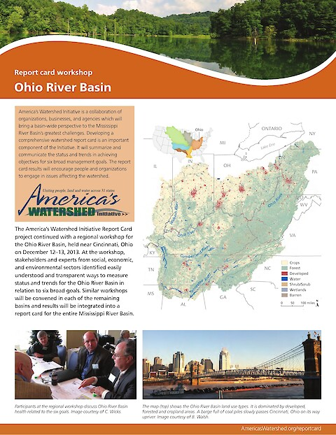 Ohio River Basin report card workshop newsletter (Page 1)