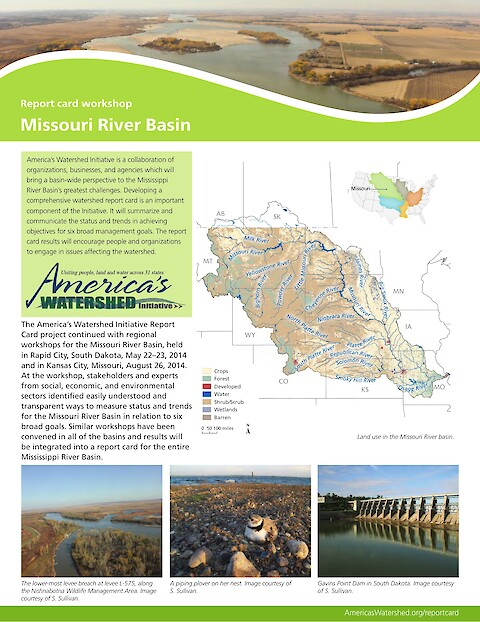 Missouri River Basin report card workshop newsletter (Page 1)