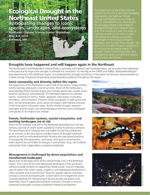 Ecological Drought in the Northeast United States (Page 1)