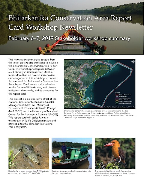 Bhitarkanika Conservation Area Report Card Workshop Newsletter (Page 1)