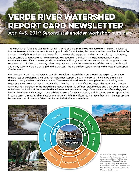 Developing a Report Card for the Verde River Watershed (Page 1)