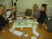 Participants playing TRADE OFF!