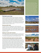 Ecological drought in the South Central U.S. newsletter cover