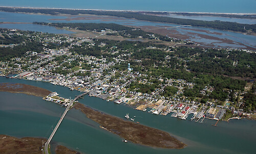 The town of Chincoteague on Chincoteague Island in Chincoteague Bay!