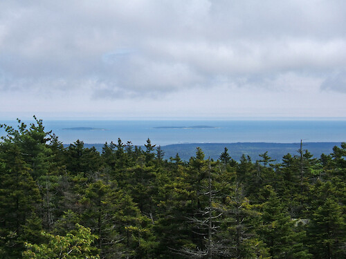 On top of Bernard Mountain, west side of Acadia National Park, Maine