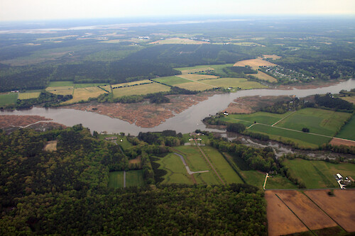 Looking northwest over the Wicomico River