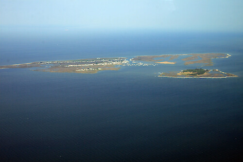 Tangier Island, Virginia, where the inhabitants make their living crabbing and fishing in Chesapeake Bay