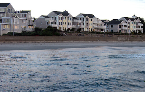Housing develops along Narragansett Beach, RI.