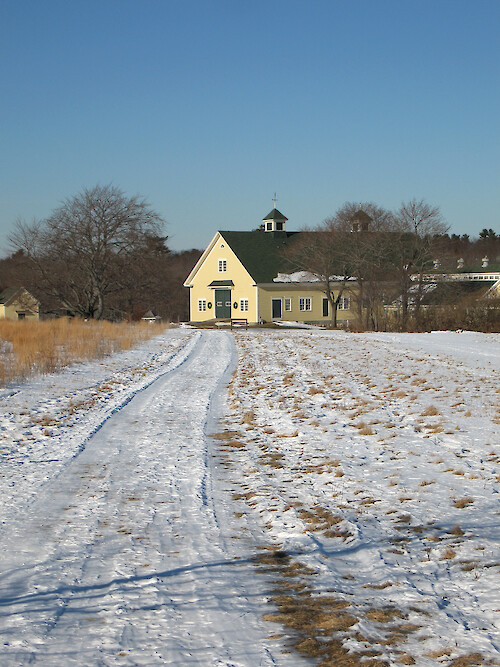 The historic Laudholm saltwater farm. Its buildings now serve as the facilities for the Wells Reserve.