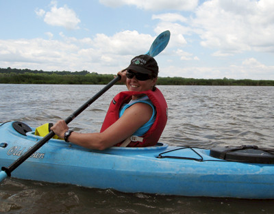 Jane Thomas on the Patuxent Sojourn paddle