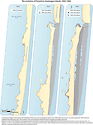 Conceptual diagram illustrating the shoreline change of Fenwick and Assateague Island since 1850.