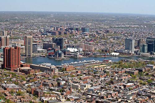 Downtown Baltimore, Maryland