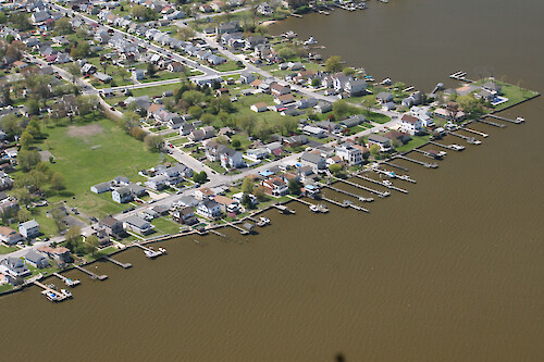 Waterfront properties on Back River, Maryland