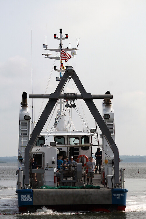 The R/V Rachel Carson is the flagship research vessel for UMCES scientists studying Chesapeake Bay.