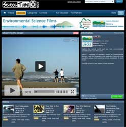 Screen capture of UMCES SchoolTube channel