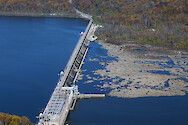 Conowingo Dam is the last Dam on the Susquehanna River before it empties into the Upper Chesapeake Bay. This is a series of photos taken on an overflight of the Dam and surrounding sites during mid-November, 2015. Conowingo Dam 3