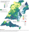 The Chesapeake Bay watershed received an above average annual amount of precipitation in 2013. This accompanied degrading conditions in some regions of the Chesapeake Bay watershed and improving conditions in others.