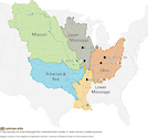 The Mississippi River Watershed includes six sub-basins and stretches across 31 states and two Canadian provinces. Each sub-basin has its own indicators and results that will all be used in creating the report card.