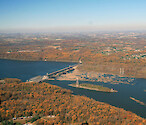 Conowingo Dam is the last Dam on the Susquehanna River before it empties into the Upper Chesapeake Bay. This is a series of photos taken on an overflight of the Dam and surrounding sites during mid-November, 2015. Conowingo Dam 9