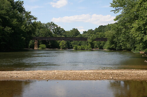 Railroad bridge over the Monocacy River in Monocacy National Battlefield