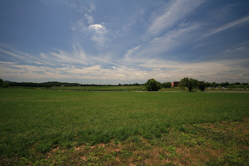 Farm fields next to the Visitors' Center at Monocacy National Battlefield