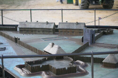 Scale model of James Fort at Historic Jamestowne, Colonial National Historical Park