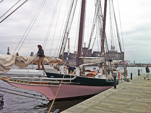 The Lady Maryland, located in the Baltimore Harbor, was used for the 2012 Living Classroon water quality demonstration.