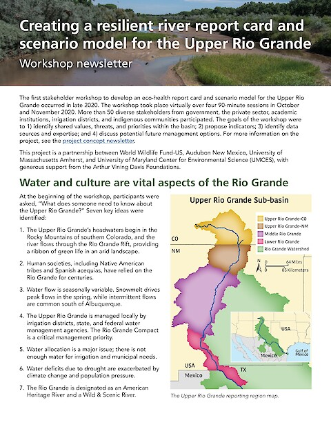Creating a resilient river report card and scenario model for the Upper Rio Grande (Page 1)