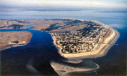 Aerial photo of Tybee Island
