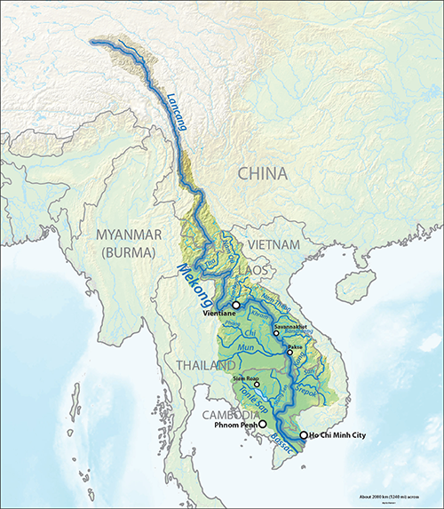 Mekong River Basin. Credit: Wikimedia Commons