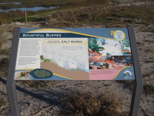 The MDC uses interpretive signs around their facility to educate the public on their restoration activities. Photo by Bill Nuttle.
