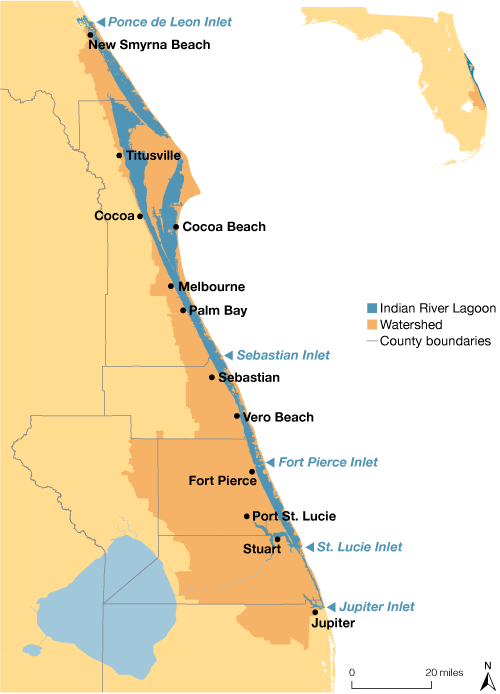 The Indian River Lagoon Map. Credit: Jane Thomas