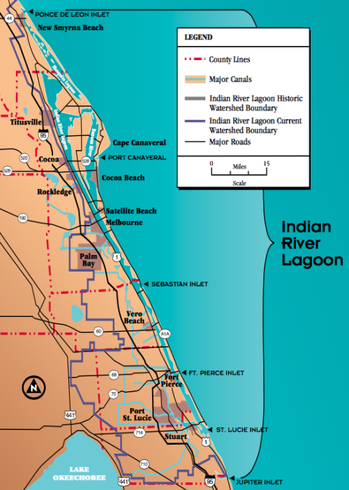 The Indian River Lagoon Watershed had increased over the years.