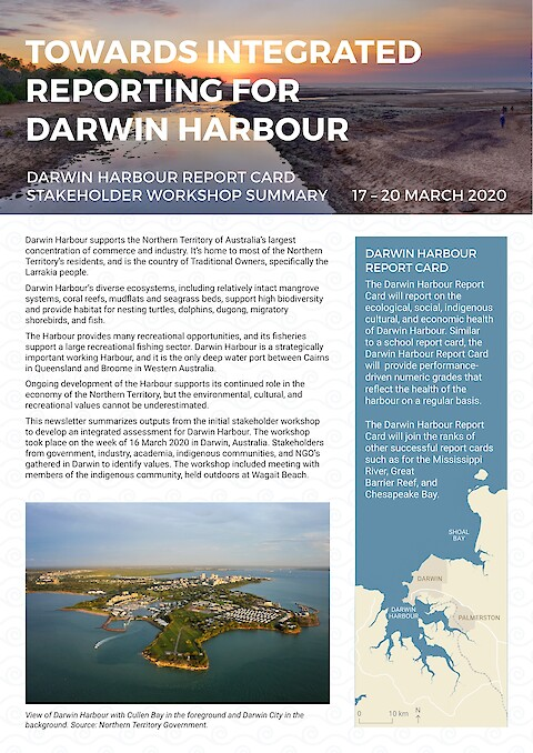 Towards integrated reporting for Darwin Harbour (Page 1)