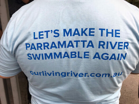 Making the Parramatta River swimmable is the major goal of the Parramatta River Catchment Group. Photo credit: Bill Dennison.